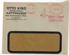 ALLEMAGNE  1931 LETTRE EMA DE KOTTHAUSEN - Germany