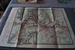 Ancienne Carte Affiche Officiel Luxembourg L'Embellissement D'Echternach,originale,RARE,65 Cm. Sur 48 Cm. - Cartes Routières