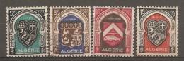 ALG - Yv.  N°  268 à 271  (o)    Armoiries Cote  1  Euro BE - Algeria (1924-1962)