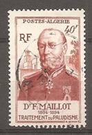 ALG - Yv.  N°  305  (o)   40f  Santémilitaire Cote  1,2  Euro BE - Algeria (1924-1962)