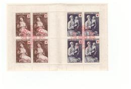 1953 Carnet Croix Rouge Oblitéré Oblitération Premier Jour Cachet Rouge Timbres N°966 967 - Croix Rouge