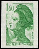 FRANCE Poste ** - 2219, Non Dentelé Accidentel Papier épais, Signé Calves: 1.60 Liberté (Spink) - Cote: 100 - France