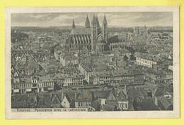 * Tournai - Doornik (Hainaut - La Wallonie) * (Edition Belge, T 1895) Panorama Avec La Cathédrale, Kiosque, TOP - Tournai