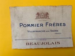 13068 - Beaujolais 1939 Pommier Frères Villefranche Sur Saône - Beaujolais