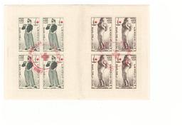 1963 Carnet Croix Rouge Oblitéré Oblitération Cachet Rouge Comité Aubenas Timbres N°1400 1401 - Croix Rouge