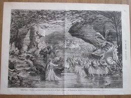 """Gravure  1873 THEATRE   """"La Coupe Du Roi Thulé"""" à L Opéra   Le Royaume Des SIRENES - Oude Documenten"""