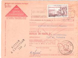 Lot Et Garonne :- CASSENEUIL Griffe Linéaire RETOUR A L'ENVOYEUR 746 - Postmark Collection (Covers)
