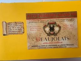 13072 - Beaujolais Reine Pédauque Ancienne étiquette - Beaujolais