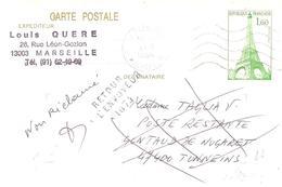Lot Et Garonne :- GONTAUD DE NOGARET Griffe Linéaire RETOUR A L'ENVOYEUR 1674 - Postmark Collection (Covers)