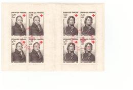 1964 Carnet Croix Rouge Oblitéré Oblitération Cachet Rouge Comité Aubenas Timbres N°1433 1434 - Croix Rouge