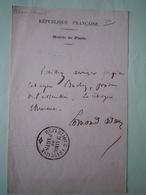 RARE LAISSEZ PASSER Edmond ADAM(1816-1877) ASSEMBLEE CONSTITUANTE 1848 BUCHEZ - Autógrafos