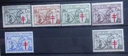 BELGIE  1934    Nr. 394 - 399   (*)  Zonder Gom     Zie Foto - Unused Stamps