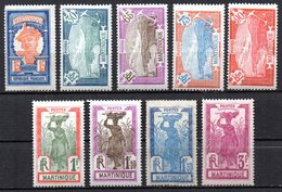 Col17  Colonie Martinique  N° 120 à 128 Neuf X MH  Cote 45,00€ - Unused Stamps