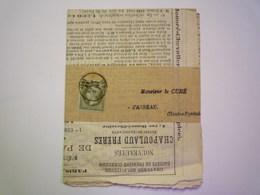 2020 - 4901  NAPOLEON III  1C  Seul Sur BANDE JOURNAL  1869   XXXX - 1862 Napoléon III