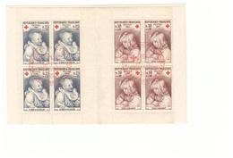 1965 Carnet Croix Rouge Oblitéré Oblitération Premier Jour Cachet Rouge Strasbourg Timbres N°1466 1467 - Croix Rouge