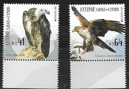 CYPRUS, 2019, MNH, EUROPA, BIRDS, BIRDS OF PREY,2v - 2019