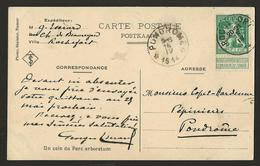 """Sterstempel Depot-relais Pondrome 16/4/1914 Aankomst Op Zichtkaart """"Parc Arboretum"""" Verzonden Van Uit Rochefort - Postmark Collection"""