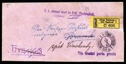 A6675) Österreich K.u.k. - Hülle Einer R-Dienstsache Von Kgl. Weinberge 03.10.1903 - 1850-1918 Imperium