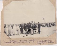 PH93 - TUNISIE -  MEDENINE -  OFFICIERS - MILITAIRES - Cap NANCY - Capitaine DE FREMINVILLE - VERS 1905 - Guerre, Militaire