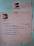 3 Lettres Dactylographiées Signées Datées De 1934 Pierre CHANLAINE (1885-1969) Adressées à Maurice SACHS (1906-1945) - Autographs
