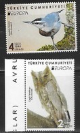 TURKEY, 2019, MNH, EUROPA, BIRDS, OWLS, 2v - 2019