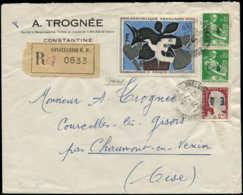 """ALGERIE Poste  - 354 (x2) + 355 + France 1319, Surchargés """"EA"""" Sur Lettre Du 21/7/62 - Algérie (1924-1962)"""