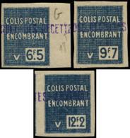 ALGERIE Colis Postaux ** - 127a/129a, Non Dentelés - Cote: 126 - Algérie (1924-1962)