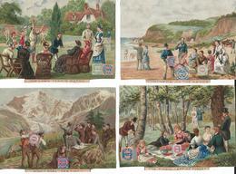 4 CHROMO HUNTLEY & PALMERS BISCUITS - LONDON 1890 - Snoepgoed & Koekjes