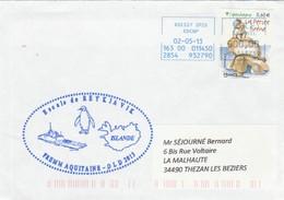 Frégate FREMM AQUITAINE Déploiement Longue Durée 2013 Escale REYJAVIK Islande - Marcophilie (Lettres)