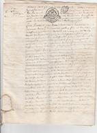 2- ACTES-NOTARIES SUR PARCHEMEMIN-RELIES PAR UN CORDON- BOURGES-1769 ET 1799-VOIR SCANNER - Manuscripten