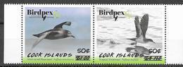 COOK ISLANDS, 2019, MNH, BIRDS, BIRDPEX, 2v REVALUED - Andere