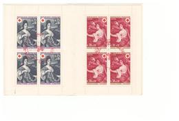 1968 Carnet Croix Rouge Oblitéré Oblitération Cachet Rouge Comité D' Aubenas Timbres N°1580 1581 - Croix Rouge