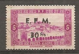 ALG - Yv.  Télégraphe N° 1 (o)  Surcharge  Cote  1,3 Euro BE R 2 - Algeria (1924-1962)