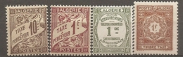 ALG - Yv.  TAXE N° 2,9 * , 15,37 ** F1Oc,1f,1c,1f  Cote  1,4 Euro BE 2 Scans - Algeria (1924-1962)
