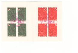 1972 Carnet Croix Rouge Oblitéré Oblitération Cachet Rouge 15e Congres Secouriste Evian Les Bains 1973 - Croix Rouge