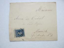 1895 , Ca., Brief Mit 25 H. Hermesfrankatur  Nach Deutschland - 1886-1901 Small Hermes Heads