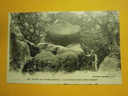 Fontainebleau Le Rocher Qui Bouge,77,non écrite Environ 1920,très Bel état,envoi En Lettre économique 0,95€,possibilité - France