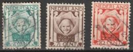 1924 Kind NVPH 141-143 -  Cancelled/gestempeld - Usados