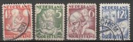 1930 Kind NVPH 232-235 MI.236 Gestempeld/ Cancelled - Usados