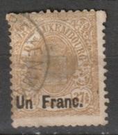 Luxembourg 1875 - Mi. 36 Yvert 36,  1Fr Auf 37,5c.  Sehe Beschreibung - 1859-1880 Coat Of Arms