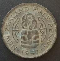 NOUVELLE ZELANDE - NEW ZEALAND - HALF PENNY 1942 - George VI - KM 12 - Nuova Zelanda