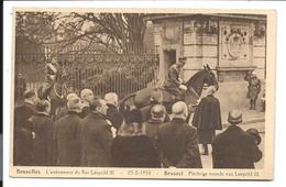 L'avènement Du ROI Léopold III - à Cheval - Bruxelles 1934 - VENTE DIRECTE X - Personaggi Famosi