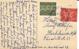 D+ Deutschland 1960 Mi 333-34 Sommerspiele Rom Auf PK Coburg - Storia Postale