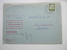 1964 , NEUMÜNSTER , Orts Zustellurkunde Mit Seltener 2 DM Einzelfrankatur - Storia Postale