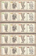 5 Bogen 2018 Heilpflanzen (Buch Des Andrea Mattioli)/ Medicinal Plants / Plantes Médicinales / Piante Medicinali - Blocks & Kleinbögen