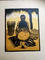 Affiche / Gravure Henri Kerels Métier Du Congo édité Pour L'exposition Coloniale De 1937 Afrique - Affiches