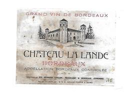 Etiquette De Vin - Chateau La Lande - Ste Bernard - Taillan - Bordeaux