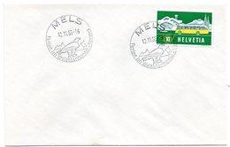 SWITZERLAND - SUISSE / MELS 1955 = SONDERSTEMPEL - CACHET Illustré  + ENVELOPPE ENTIERE - Marcophilie