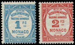 MONACO Taxe ** - 27/28, Complet, Luxe - Cote: 380 - Taxe