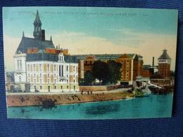 CP-Corbeil (91)  L'Hôtel De Ville, Les Grands Moulins Vue Du Pont - Corbeil Essonnes